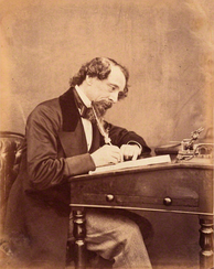 A photograph of Victorian era novelist Charles Dickens