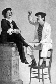Edna Wallace and DeWolf Hopper in the musical Panjandrum (1893)