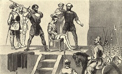 Image of the execution of Balboa in Vasco Nuñez de Balboa by Frederick A. Ober[14]