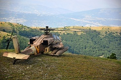 "Israeli Air Force AH-64D ""Saraph"" during an exercise with the Hellenic Air Force in 2011"