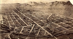 Nineteenth-century bird's-eye view of Fort Collins