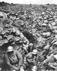 French trench at Côte 304, Verdun