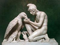 Ganymede Waters Zeus as an Eagle, Thorvaldsen Museum