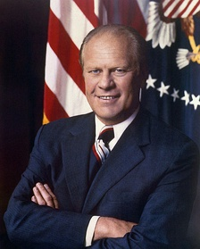 House Minority Leader Gerald Ford was chosen as the 40th Vice President of the United States in 1973.