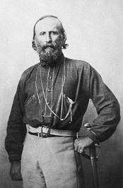 Giuseppe Garibaldi, the prominent Italian nationalist leader during the Risorgimento.