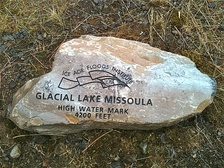 Glacial Lake Missoula high-water mark, 4200 ft.