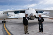 Gov. Richardson and Richard Branson with SpaceShipTwo, 2010
