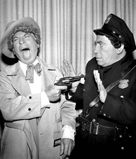 "Harpo and Chico Marx performed ""The Incredible Jewelry Robbery"" in pantomime in 1959."