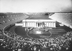 Performance of a Greek play at Harvard Stadium in 1903