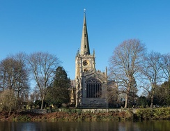 Holy Trinity Church, Stratford-upon-Avon, where Shakespeare was baptised and is buried