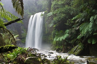 Much attention has been given to preserving the natural characteristics of Hopetoun Falls, Australia, while allowing ample access for visitors.[citation needed]