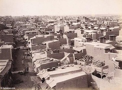 Simple windcatchers in Hydrabad in the 1800s
