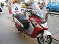 An EMT's scooter in Israel