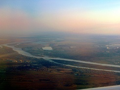 An aerial view of the Irtysh in Omsk