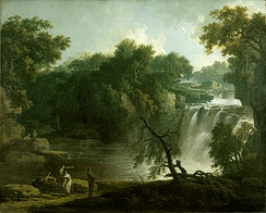 Jacob More's The Falls of Clyde: Corra Linn, c. 1771