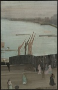Variations in Pink and Grey- Chelsea, 1870–71; oil on canvas