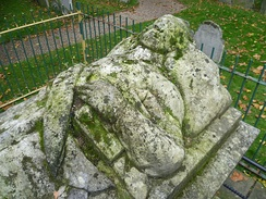 Bunyan's effigy on his grave in Bunhill Fields