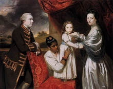 Joshua Reynolds, Robert Clive and his family with an Indian maid, 1765
