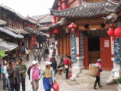 Local traders in Lijiang City