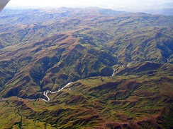 Deforestation of the Madagascar Highland Plateau has led to extensive siltation and unstable flows of western rivers.