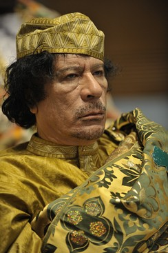 Gaddafi at the 12th African Union conference in 2009