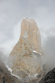 The Trango Towers offer some of the largest cliffs and most challenging rock climbing in the world, and every year a number of expeditions from all corners of the globe visit Karakoram to climb the challenging granite.[115]