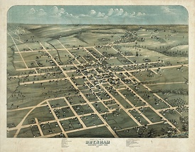 Map of the city 1873
