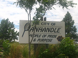 Welcome sign in Panhandle