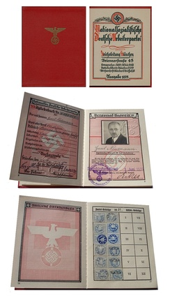 Membership of the Nazi Party from 1939