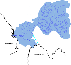 Drainage map of the Pasig-Marikina River system