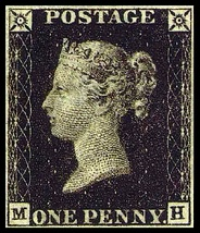 The Penny Black, the world's first postage stamp