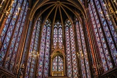 Stained glass windows of the Sainte-Chapelle in Paris, completed in 1248, mostly constructed between 1194 and 1220