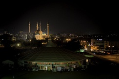 Skyline of Central Business District, Abuja at night