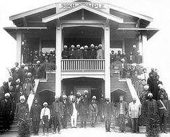 The first gurudwara was established in 1912 by the early immigrant Sikh farmers in Stockton, California.