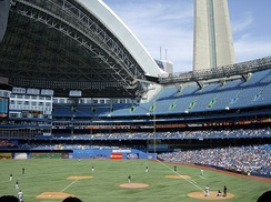 The Toronto Blue Jays host the Detroit Tigers at the Rogers Centre.