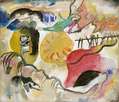 Wassily Kandinsky, Improvisation 27 (Garden of Love II), 1912, oil on canvas, 120.3 x 140.3 cm, Metropolitan Museum of Art, New York. Exhibited at the 1913 Armory Show.