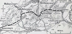 Front line at Mort-Homme, May 1916