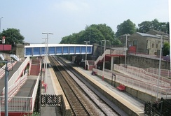 Brighouse station in June 2009