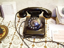 A German rotary dial telephone, the W48