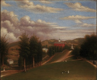 Depiction of West College, which composed the entire College in its early years.
