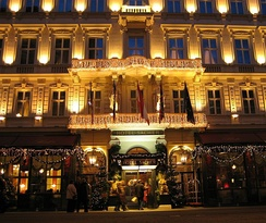 Hotel Sacher at night