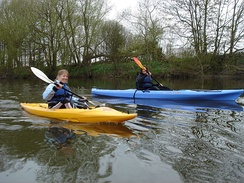 Kayaking near Hay-on-Wye