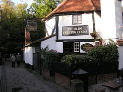 Ye Olde Fighting Cocks in St Albans, Hertfordshire, which holds the Guinness World Record for the oldest pub in England