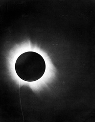 Eddington's original photograph of the 1919 eclipse, which provided evidence for Einstein's theory of general relativity.