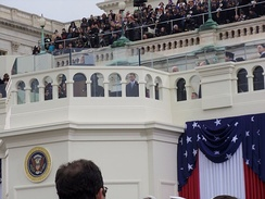 Evers-Williams delivering the invocation at the 2013 Presidential Inauguration