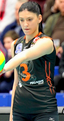 Tijana Bošković, a successful volleyball player