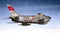 332d Fighter-Interceptor Squadron North American F-86D-45-NA Sabre 52-3901, 4709th Air Defense Wing, McGuire AFB, New Jersey, 1956