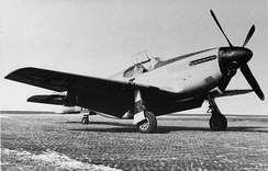 A P-51B Mustang of the 354th Fighter Group at Goxhill, 1944.