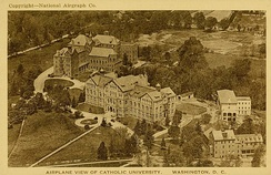 An aerial view of campus in 1920