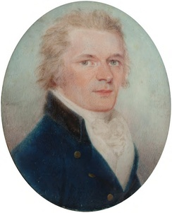 Miniature of Hamilton attributed to Charles Shirreff, c. 1790